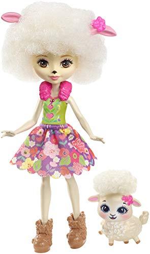 Enchantimals- Lorna Lamb Echantimals, Muñeca, Multicolor, (Mattel FHN25)