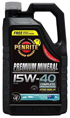 Penrite Premium Mineral 15W40 motorolie, Mazda RX8, RX7 rotor, 5 liter