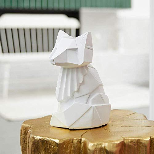 LHQ-HQ Adornos de Zorro Decoraciones del Arte del Arte de Origami Sala de café del gabinete Mesa de Regalos Adornos Que Viven en casa