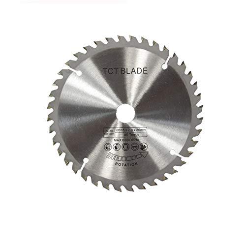 FMingNian 1pc Diámetro 160 165 185mm TCT Hoja de Sierra Circular para Madera de plástico acrílico Hoja de Sierra de carpintería 24T 48 60t 80t de Disco de Corte (tamaño : 165x20x40T)