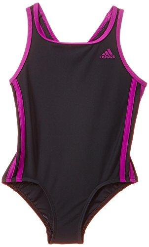 adidas Mädchen Badehose Infinitex 3-Stripes, Dark Grey/Flash Pink S15, 128