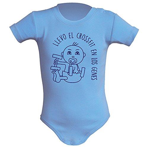 Body bebé unisex Llevo el crossfit en los genes. Regalo original. Body bebé divertido. Bebé...
