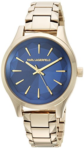 Karl Lagerfeld Women's Janelle Quartz Watch with Stainless-Steel Strap, Gold, 0.6 (Model: KL1628)