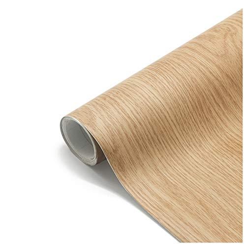 Papel Adhesivo Madera para Muebles 61x500cm, Espesar Duradero Vinilo Película Prueba de...