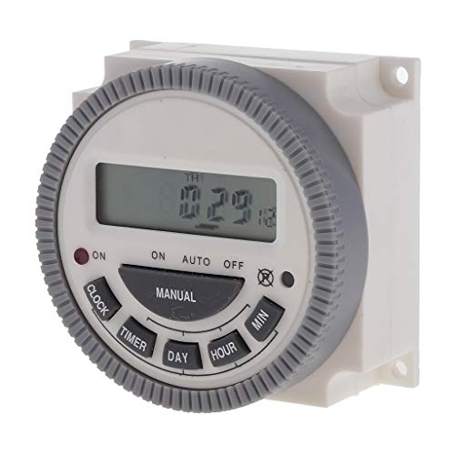 H HILABEE Temporizador Programable Del LCD Del Interruptor de Tiempo de Digitaces 220V 16A Del Plástico