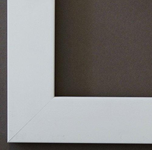 Online Galerie Bingold Bilderrahmen Florenz Weiß 4,0 - Über 100 Größen - 4 Ausstattungsvarianten - Wechselrahmen mit Museumsglas (UV-Schutz 45% - entspiegelt) - 30 x 90 cm - Modern