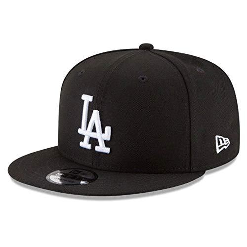 New Era 950 Los Angeles Dodgers Basic Snapback Hat (Black/White) Men's Cap