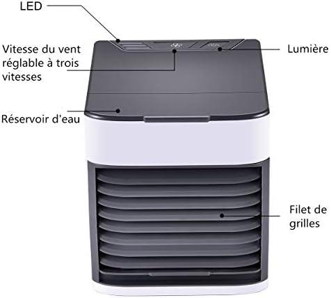 Climatiseur Portable, SECARIER USB Ventilateur Refroidisseur D'air Portable 3 EN 1 Réglable Air Climatiseur Mini Air Refroidisseur Humidificateur Purificateur