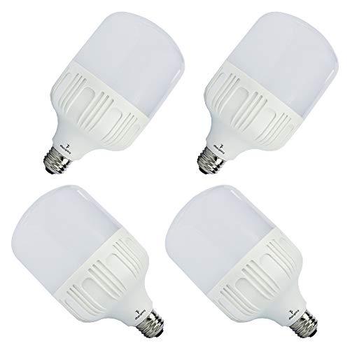 ETOPLIGHTING [4-Pack] Shatter-Proof 30W LED Light Bulb with 15000 Life Hours, Edison E26/E27 Base, Garages, Work Sites, Home, Photo Studio, APL1485, Daylight White 6000K
