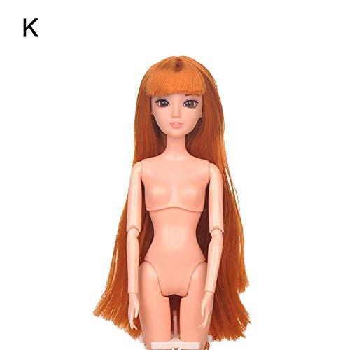 Krystallove BJD nackte Puppe 1/6 SD Puppe, 12 bewegliche verbundene + DIY 3D Hauptacrylaugen + grundlegendes Make-up, Puppen, die Kleid DIY bilden