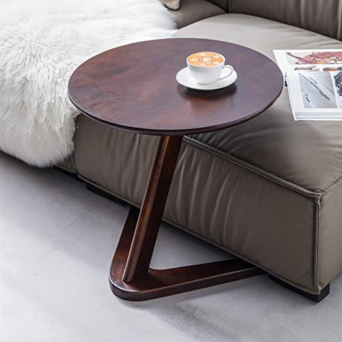Mesa Auxiliar Mesas de Dentro Mesa auxiliar del sofá en forma de C, Mesas de refrigerio pequeñas, Mesa auxiliar / Mini bandeja de café para la oficina en casa, Mesitas de noche con mesita de noche par