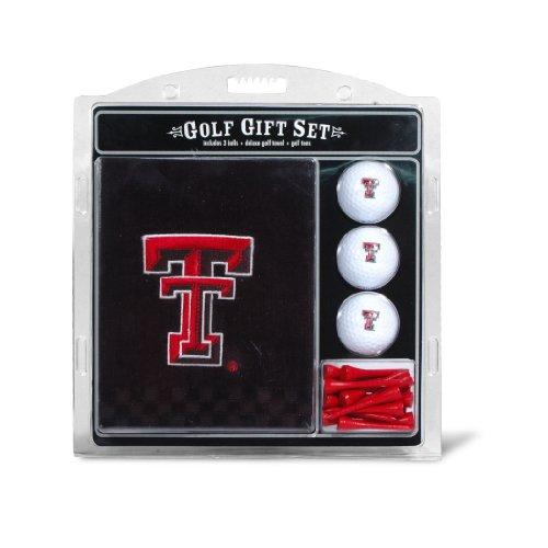 Team Golf NCAA Texas Tech Red Raiders Gift Set Embroidered Golf Towel, 3 Golf Balls, and 14 Golf Tees 2-3/4