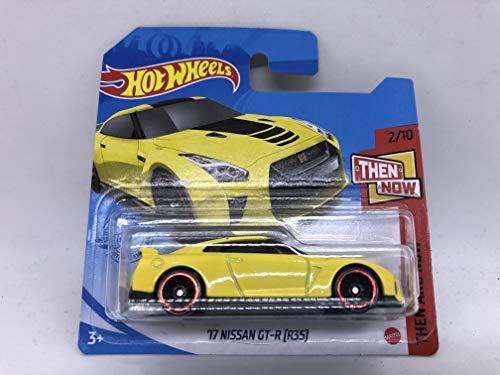 \'17 Nissan GT-R (R35) Amarillo Hot Wheels 2021 79/250 (tarjeta corta)