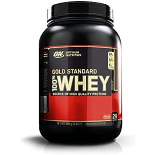 Optimum Nutrition Gold Standard Whey Protein Powder, Double Rich Chocolate, 908 g:Amedama