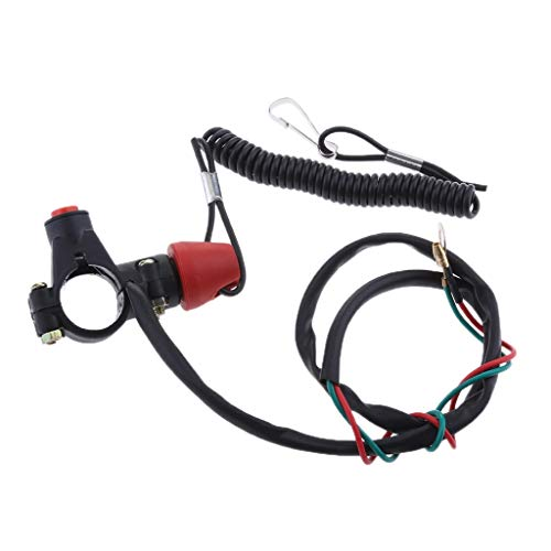 Motorcycle Engine Stop Kill Switch Safety Tether Lanyard Dirt Quad Bike