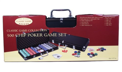 John N. Hansen 500 Chip Poker Game Set