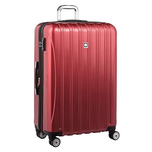 DELSEY(デルセー) スーツケース 機内持ち込み(42Lのみ) フロントオープン キャリーケース 大容量 静音 拡張可能 helium aero sサイズ/中型mサイズ/大型lサイズ 5年間保証 117+29L&レッド