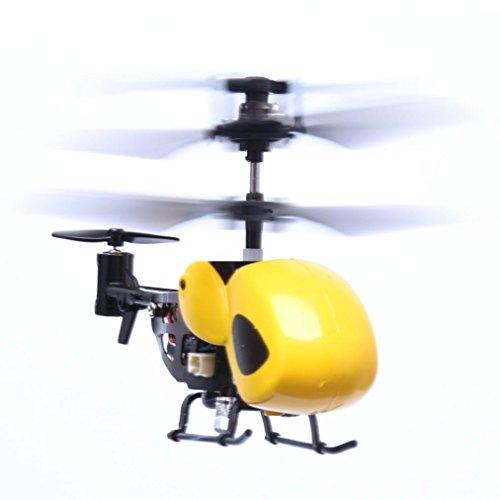LUCKDE Rc Helikopter Ferngesteuert, Mini Drohne 2 Kanal Helikopter Hubschrauber Spielzeug Kinder Quadcopter Drohne Helikopter Ferngesteuert (Gelb)