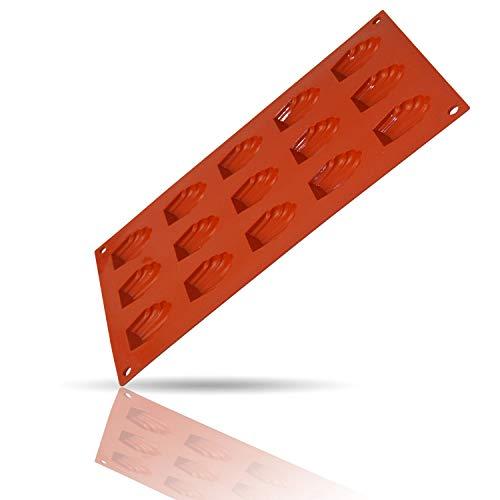 Kerafactum Flexible Backmatte Matte Form zum Backen aus Silikon Backform Bären Tatzen Silikonform Motiv Madeleine Bärentatzen 15 Formen für Kekse Plätzchen
