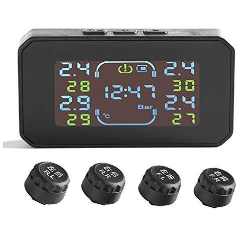 HuangjinyeTY S04 Sistema de monitoreo de presión de neumáticos para Camiones Minivan Solar TPMS (0-6 Bar)