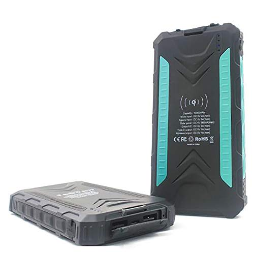 SPARKX Solar Wireless Large Capacity Mobile Power 20000Mah, Battery Pack, with 2 Inputs And 2 Outputs, with Flashlight, Suitable for Laptops, Mobile Phones, Etc, 1 Piece,C