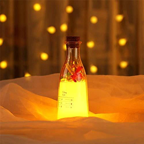 Allamp Norte de Europa Botella de leche con el sueño ligero deriva Botella USB recargable luz de la noche de colores múltiples luces amante ambiente putrefacto regalo Botella desea la lámpara Mensaje