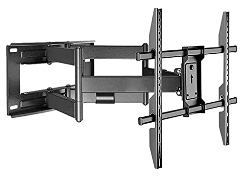 TabloKanvas TELEVISOR Gabinete de pie TELEVISOR Montaje de Soporte de Pared Swivels Tilts TELEVISOR Monte para 50-100 Pulgadas LCD LED TV Plana y Curva (Color : Black)