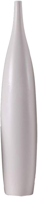 Vase en Céramique Blanc Simple Bouche Artisanat Fleurs Vase OrneHommest Décoratif à La Maison pour Les Amis Et La Famille (Couleur   blanc, Taille   B)