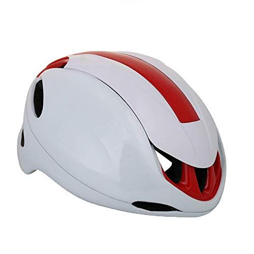 YCHCH fietshelm voor dames voor volwassenen, met glijdende regenhoes, mountainbikehelm, verstelbaar, lichtgewicht, wit rood
