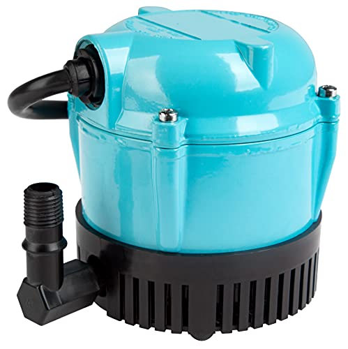 Little Giant 500500 1-AA-18 Submersible Cover Pump with 18-Feet Cord, 170 GPH,blue