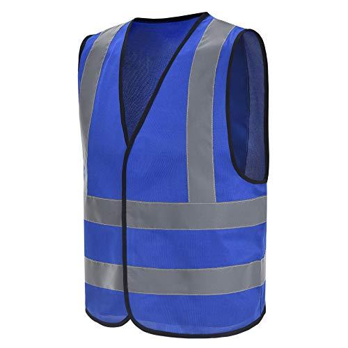 Chalecos de seguridad Alta Visibilidad (M, Azul)