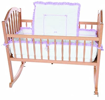 Baby Doll Unique Cradle Bedding Set, Lavender by Baby Doll