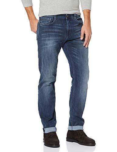 TOM TAILOR Herren Straight Leg Slim Jeans MARVIN, Blau (Dark Stone Wash Deni 10282), W31/L30 (Herstellergröße: W31/L30)