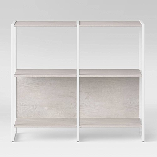 35u0022 Paulo 2 Shelf Bookcase White - Project 62™