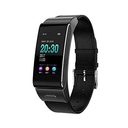 Shouhuan Farbdisplay Smart-Armband Multifunktionsuhr - Bluetooth-Anruferinnerung Remote-Selbstauslöser-Herzfrequenz-Blutdrucküberwachung Aktivitäts-Tracking-Bewegungszähler SHUAN (Color : Black)