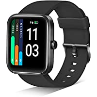 JIKKO 1.69 Inch Touch Screen Smart Watch with Heart Rate Monitor and Pulse oximeter (Black)