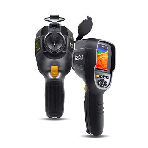 PerfectPrime IR0019, Imageur thermique infrarouge (IR) et camera a lumiere visible avec resolution infrarouge 76 800 pixels, plage de temperature de -4~572 °F, taux de rafraichissement 9 Hz