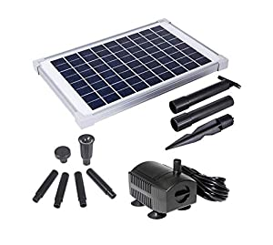 Solariver Solar Water Pump Kit -160+GPH Submersible Water Pump with Adjustable Flow, 12 Watt Solar Panel for Sun Powered Fountain, Pond Aeration, Hydroponics, Aquaculture (No Battery Backup)