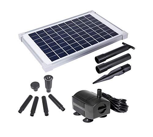 Solariver 12 Watt Solar Water Pump Kit 160 GPH Submersible Water Pump with Adjustable Flow
