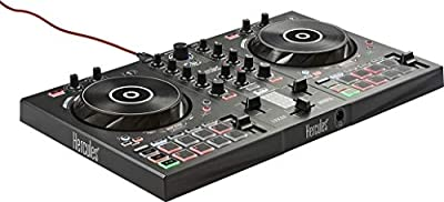 Hercules DJControl Inpulse 300 - DJ controller with USB - 2 tracks with 16 pads and sound card - Software and tutorials included