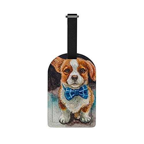 Redecor Etiquetas de equipaje de viaje, etiquetas de equipaje para cachorros, etiquetas de identificación de maleta, etiquetas para bolsas de viaje, 1 pieza