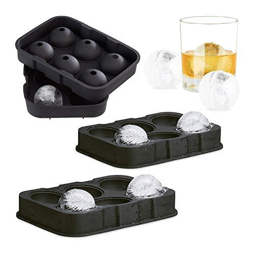 Goods & Gadgets Gadgets Ice Balls XL ijsbal vorm voor, siliconen, zilver, M