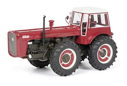 Schuco 450909200 Steyr 1300 System Dutra, Traktor, Resin, Modellauto, 1:43, rot, Limitierte Auflage