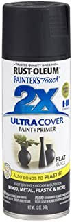 Rust-Oleum 249127 Painter's Touch 2X Ultra Cover, 12 Ounce (Pack of 1), Flat Black