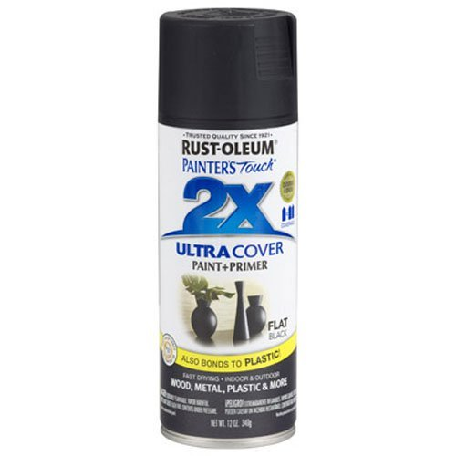 Rust-Oleum 249127 Painter's Touch 2X Ultra Cover, 12 Oz, Flat Black