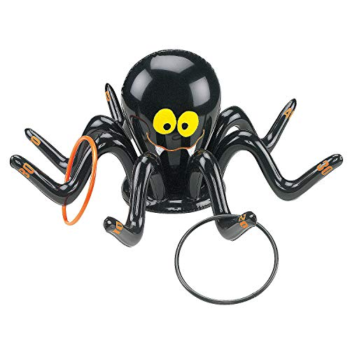 Fun Express - Inflate Spider Ring Toss Game for Halloween - Toys - Inflates - Inflatable Games - Halloween - 5 Pieces