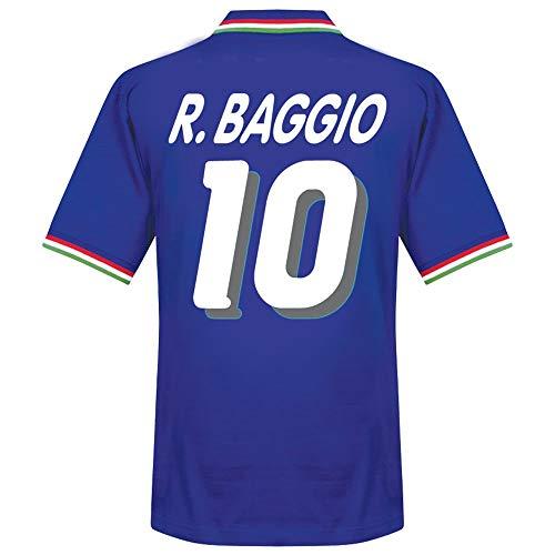 Copa 1982 Italien Home Retro Trikot + R. Baggio 10 (1994 Beflockung) - M