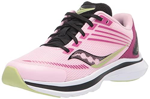Saucony Kinvara 12 Running Shoe, Pink/Purple, 4.5 Wide US Unisex Big_Kid