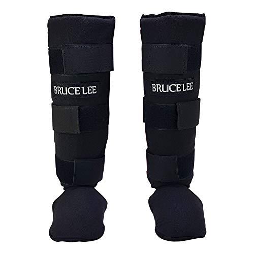 Tunturi 14BLSBO085 Espinilleras Completas Bruce Lee, Unisex Adulto, Negro, XL
