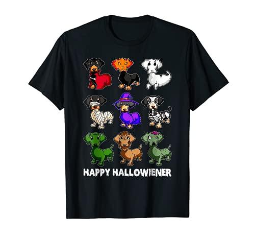 Dachshund Happy Halloweiner Funny Halloween Dogs Lover T-Shirt
